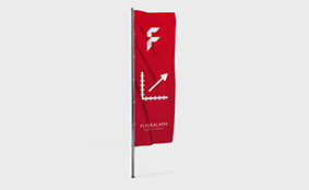Custom sized hoisting flags for poles without banner arm