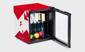 Mini Kühlschrank Für Getränke : Minikühlschränke günstig schnell bedrucken bei flyeralarm