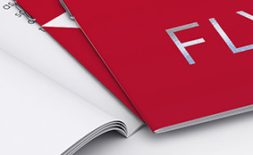 Brochures with staple binding and premium finishes