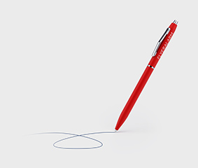 Slim Line soft touch ball point pens