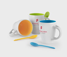 Mugs with a spoon