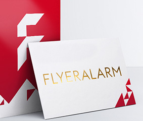Business cards order your printed products at flyeralarm business cards with premium finishes reheart Images