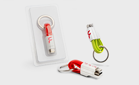 3-in-1 charger cable keyring