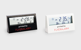 Digitales Raumthermometer mit transparentem Display