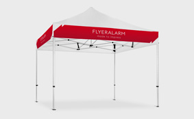 Gazebos with interchangeable banner