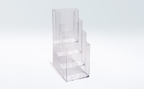 Brochure display stand for DL/A6,  4 pockets