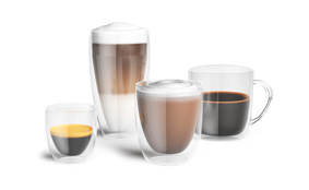Sample double-walled coffee glass