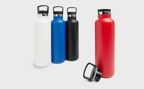 Sample metal thermos flask
