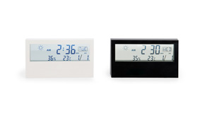 Sample digital room thermometer with transparent display
