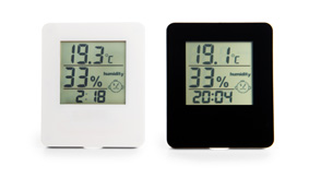 Sample digital room thermometer with stand
