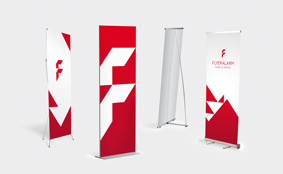Roll-up banners en displays