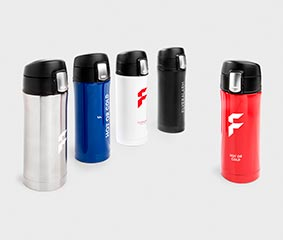 Vacuum flasks with quick release cap