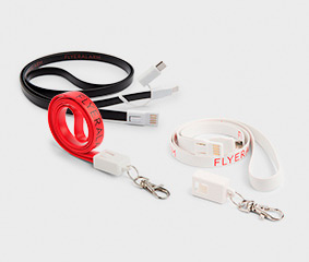 Charger cable lanyard