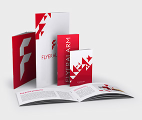 Brochures with staple binding - new material
