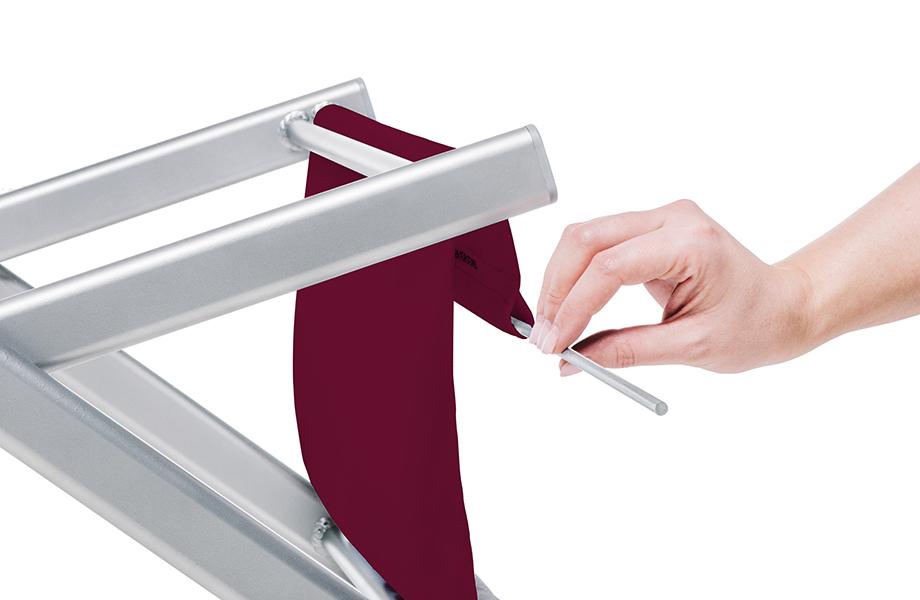 Aluminium-Liegestuhl ohne Armlehne, System inkl. Druck
