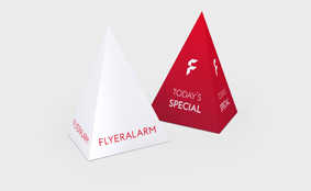 Pyramid tent cards