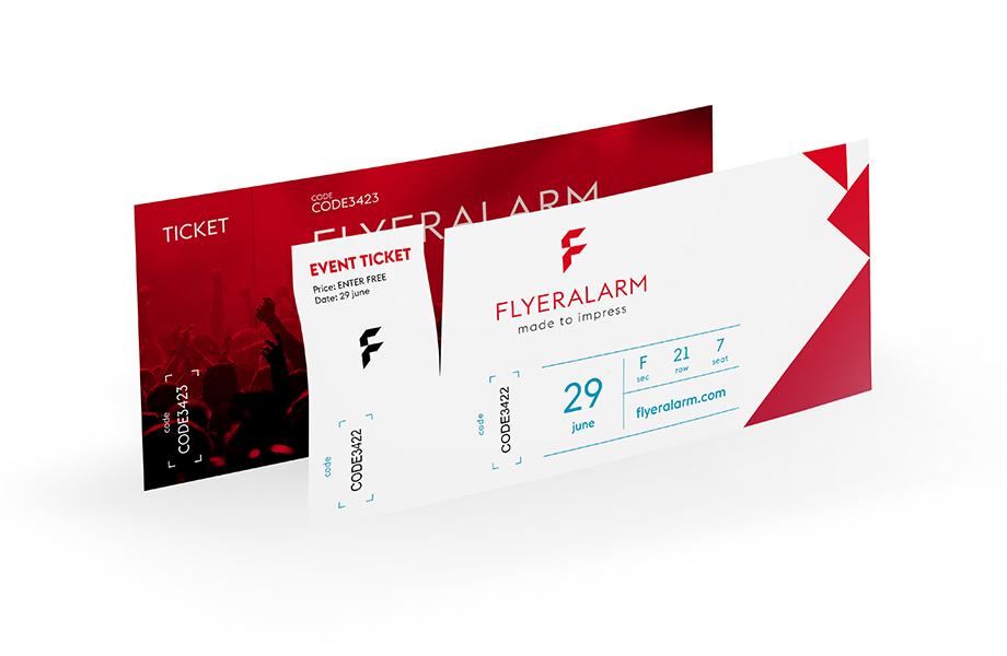 Eintrittskarten & Tickets günstig drucken bei FLYERALARM