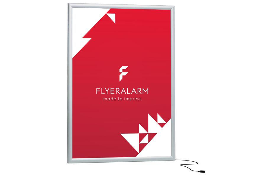 LED backlit box - print and mechanism at FLYERALARM