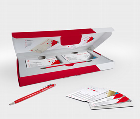 Business cards sample box