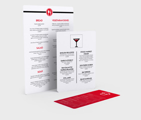Rigid foam menus