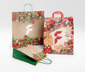 Christmas bags with design
