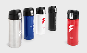 Travel mugs with quick release cap
