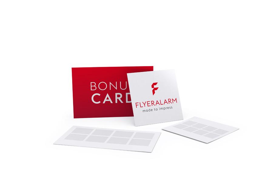 stempelkarten bonuskarten g nstig drucken bei flyeralarm. Black Bedroom Furniture Sets. Home Design Ideas