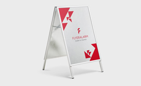 A-frame boards, with print
