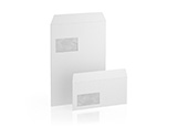 Envelopes blank with window, peal and seal
