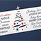 Christmas card, design B12, detailed view