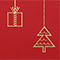 Christmas card, design D10, detailed view