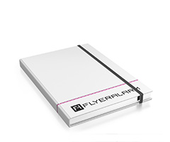 Hardcover note books chequered/blank (digital print)