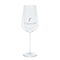 Premium red wine glass, silver