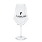 Modern red wine glass, black
