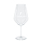 Modern red wine glass, white