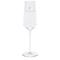 Premium water glass, etched white