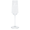 Premium champagne glass, white