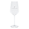 Premium white wine glass, silver