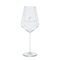 Modern white wine glass, etched white