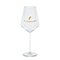 Modern white wine glass, gold