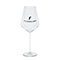 Modern white wine glass, black
