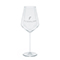 Modern white wine glass, silver