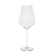 Modern white wine glass, white