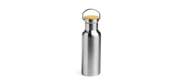 Sample stainless steel bottle with handle