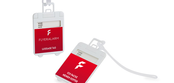 Foldable luggage tags
