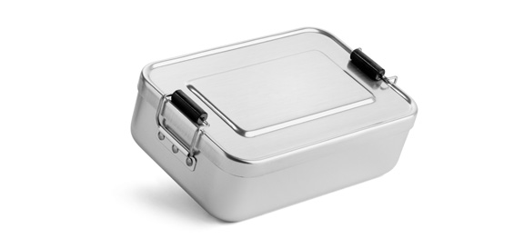 Sample aluminium lunch box