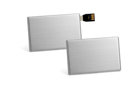 Sample silver USB stick cards