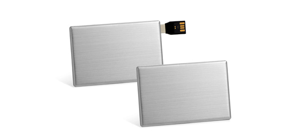 Samples usb-creditcards, zilver
