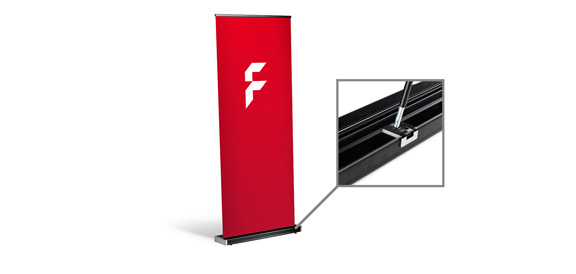 Roll-Up Black, System inkl. Druck
