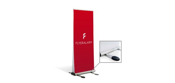 Roll-Up Duo Outdoor, System inkl. Druck